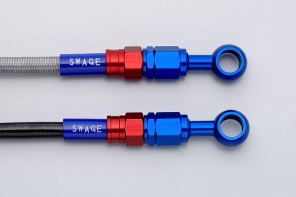 SWAGE-LINE スウェッジライン フロント ブレーキホースキット ホースの長さ:100mmロング ホースカラー:クリア CRF250L [MD38](13-17)