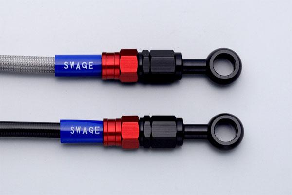 SWAGE-LINE スウェッジライン フロント ブレーキホースキット ホースの長さ:100mmロング ホースカラー:ブラックスモーク CRF250L [MD38](13-17)