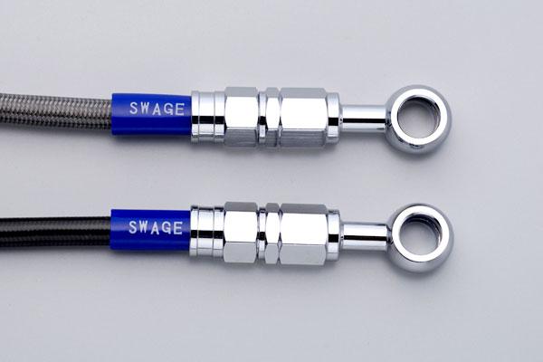 SWAGE-LINE スウェッジライン フロント ブレーキホースキット ホースの長さ:50mmロング ホースカラー:ブラックスモーク CRF250M [MD38](14-17)