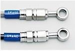 SWAGE-LINE スウェッジライン フロント ブレーキホースキット ホースの長さ:100mmロング ホースカラー:クリア SR400