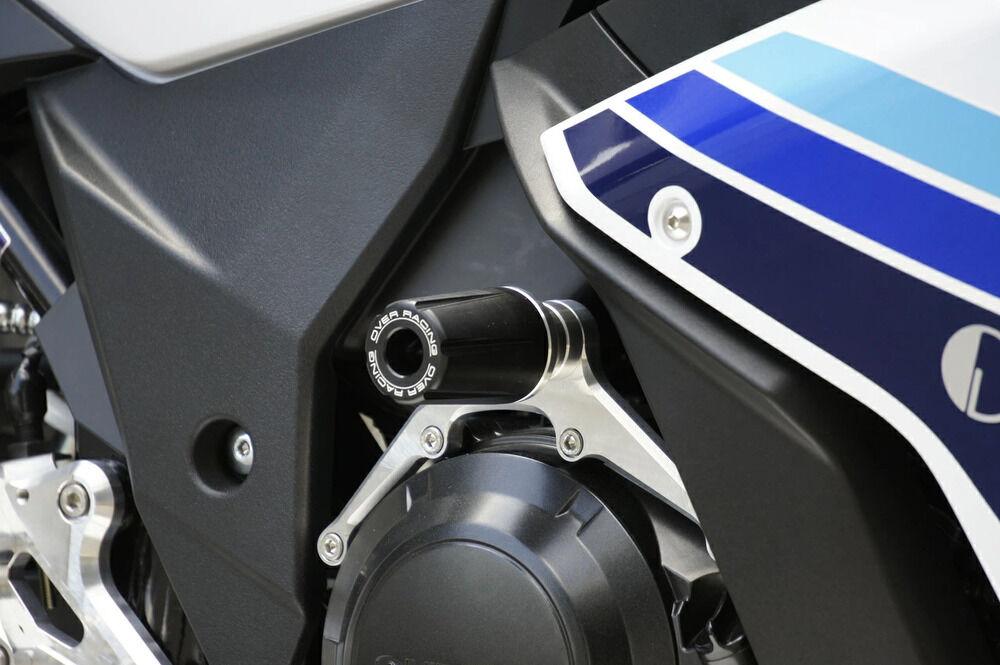 【在庫あり】OVER オーヴァー ガード・スライダー レーシングスライダー カラー:シルバー GSX250R