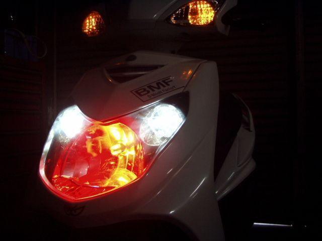 ビームーンファクトリー B-MOON FACTORY BMF 各種バルブ LEDヘッドライト カラー:レッド シグナスX125/3型/4型