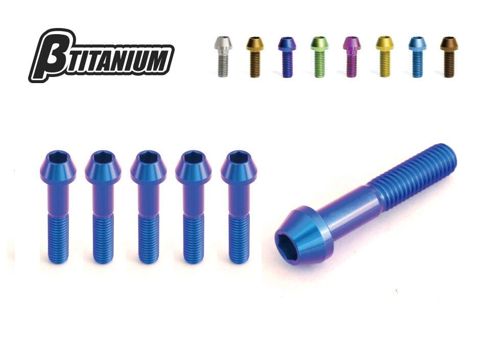 βTITANIUM ベータチタニウム βチタニウム その他外装関連パーツ ステアリングステム アンダーチタンボルトキット ローズピンク タイプ:テーパーキャップ