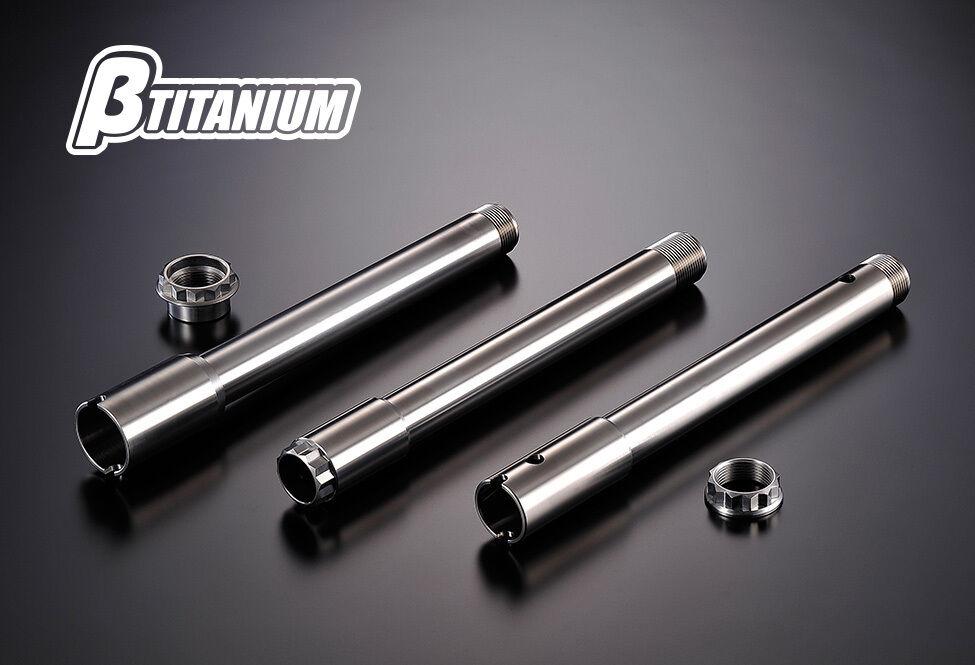 βTITANIUM ベータチタニウム βチタニウム ホイール関連パーツ フロントアクスルシャフト カラー:リーフグリーン(陽極酸化処理) Ninja H2 (15-17)