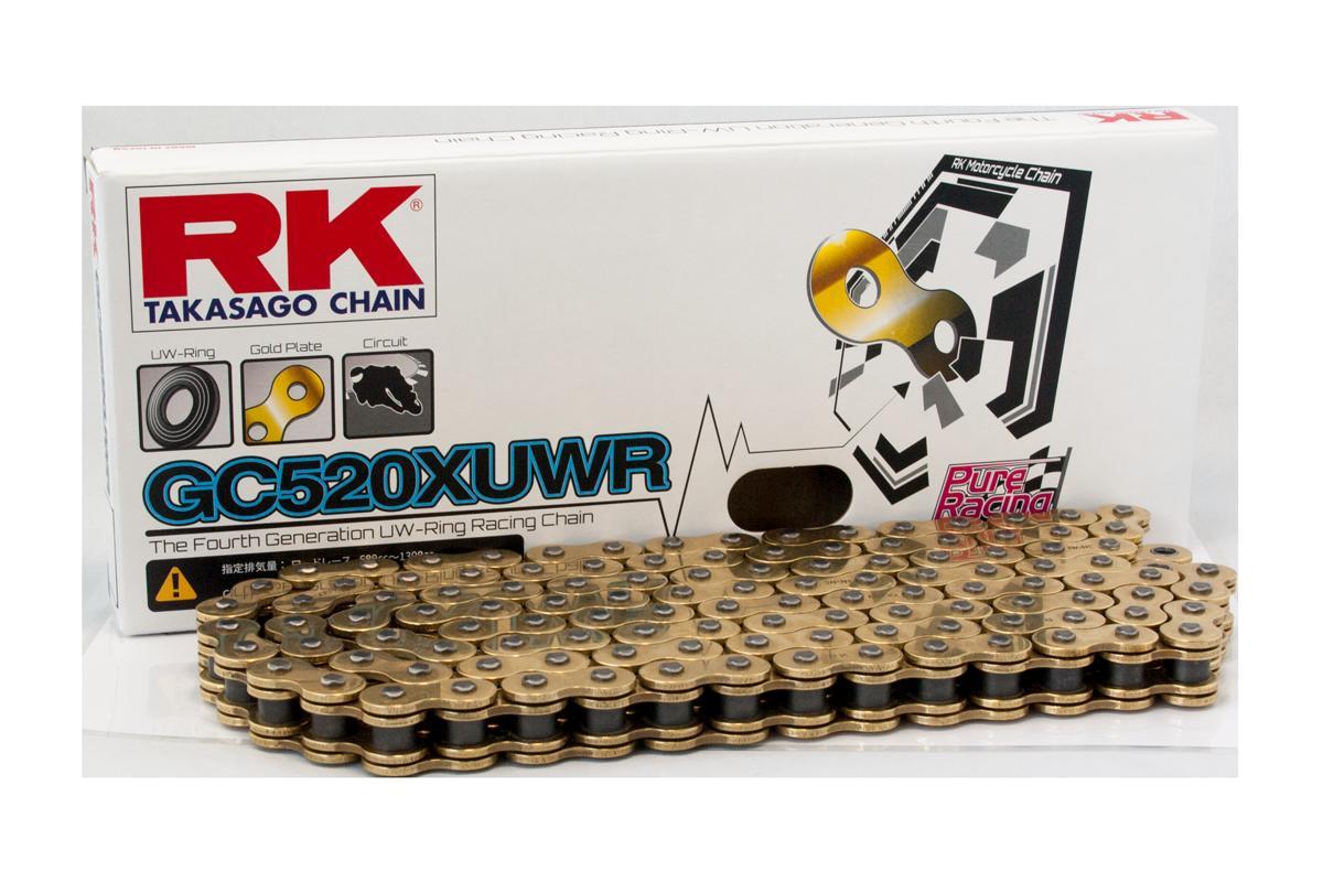 RK アールケー TAKASAGO CHAIN GCレーシングゴールドチェーンシリーズ GC520XUWR リンク数:130 CBR1000RR GSX-R1000 GSX-R1000R RSV4 RF S1000RR YZF-R1 ZX-10RR