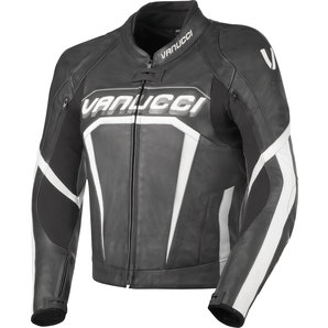 Vanucci ヴァヌッチ ART XIV COMBI JACKET LEATHER,BLACK/WHITE