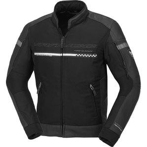 Vanucci ヴァヌッチ レザージャケット V4.1 TEXTIL/LEATHER JKT, BLACK Size:50