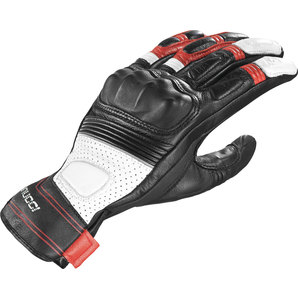 Vanucci ヴァヌッチ レザーグローブ SHORT RACING III GR GLOVES, BLK/RED Size:XS