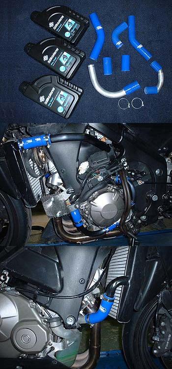 RADICAL ラジカル フィッティング・ホース関連 TUBE SUPPLY ウォーターラインシステム カラー:ブルーアルマイト CBR600RR