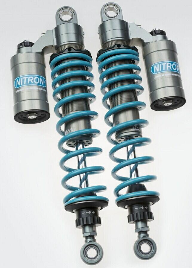 NITRON ナイトロン リアサスペンションツインショック TWIN R3シリーズ スプリングカラー:ターコイズ ベースカラー:ブラックツイン CB1100 EX