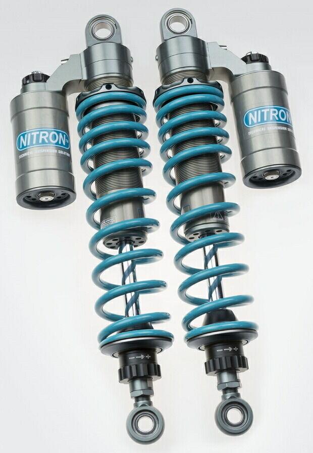 NITRON ナイトロン リアサスペンションツインショック TWIN R3シリーズ スプリングカラー ターコイズ ベースカラー タイタニアムツイン CB1100 EX 特価 クリスマス会 送料無料