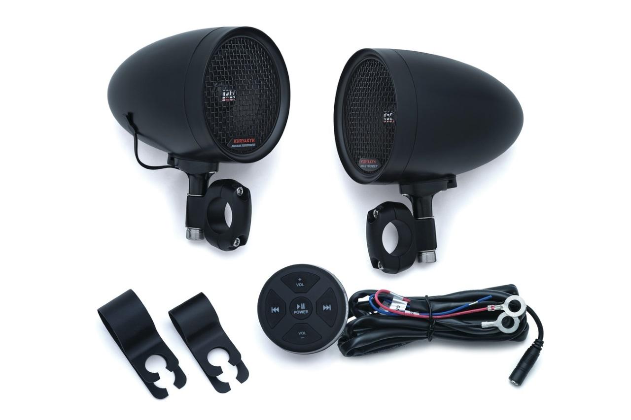 Kuryakyn クリアキン Speaker Pods & Bluetooth Audio Controller[スピーカーポッド&ブルートゥースオーディオコントローラー]