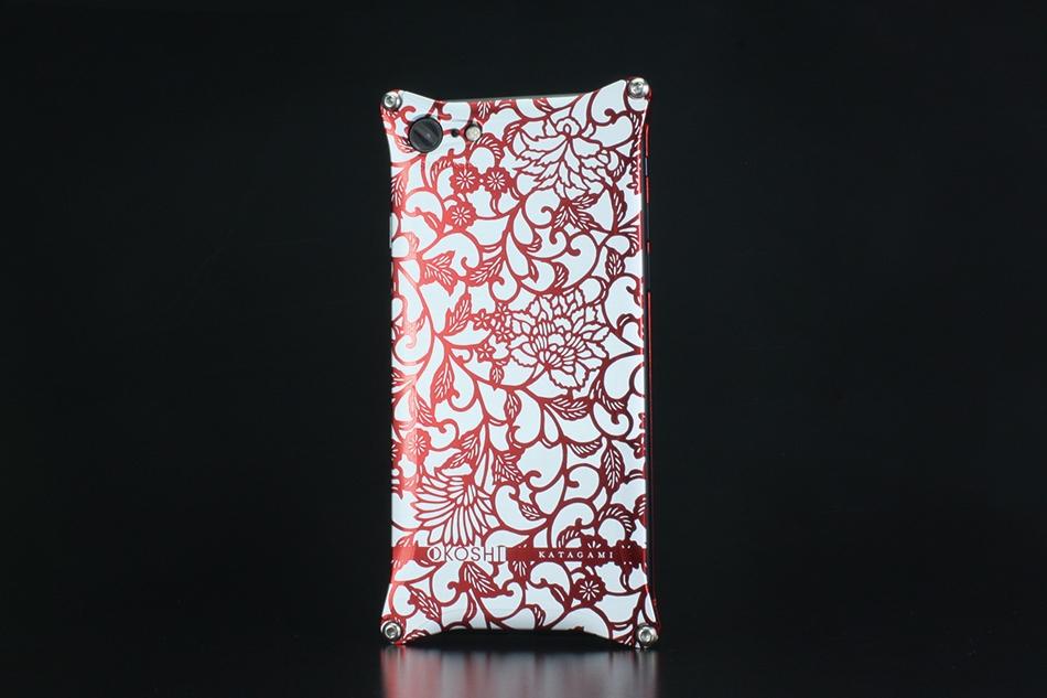GILD design ギルドデザイン スマートフォンケース OKOSHI-KATAGAMI [オコシカタガミ] 【アラベスク】 for iPhone7 カラー:レッド [商品コード:GOK-270AR]