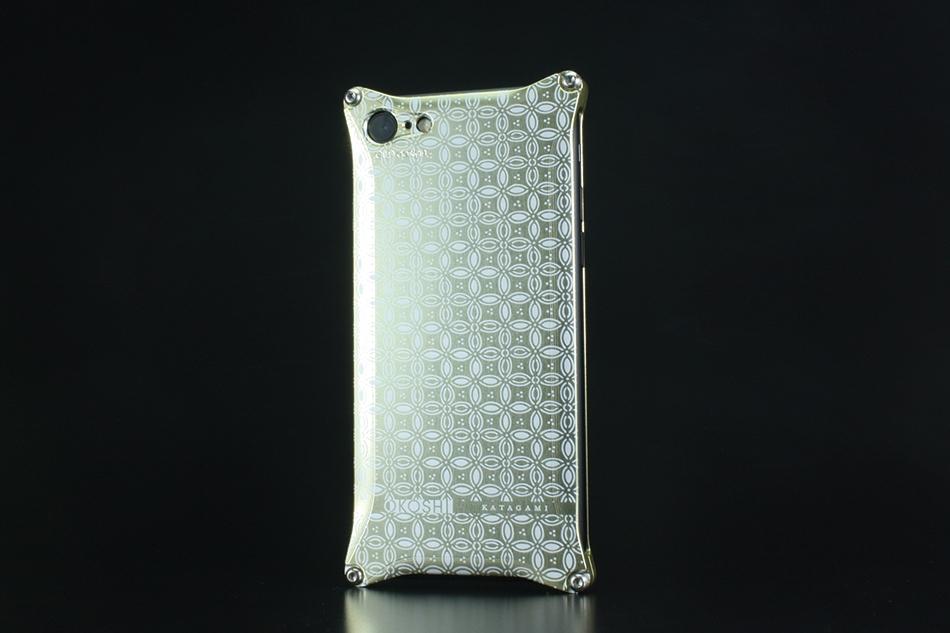 GILD design ギルドデザイン スマートフォンケース OKOSHI-KATAGAMI [オコシカタガミ] 【七宝】 for iPhone7 カラー:シャンパンゴールド [商品コード:GOK-270SG]