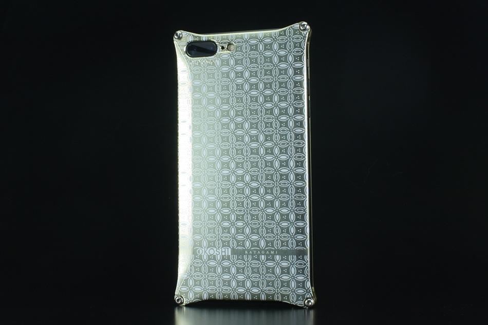 GILD design ギルドデザイン スマートフォンケース OKOSHI-KATAGAMI [オコシカタガミ] 【七宝】 for iPhone7Plus カラー:シャンパンゴールド [商品コード:GOK-280SG]