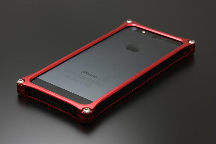 GILD design ギルドデザイン その他グッズ ソリッドバンパー for iPhone SE/5s/5 カラー:レッド