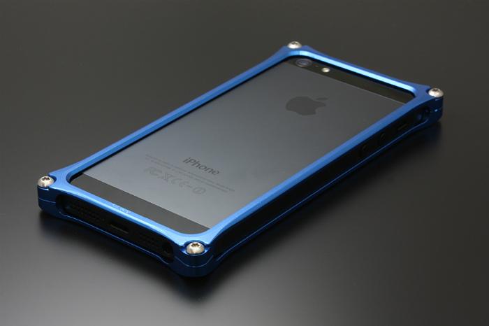 GILD design ギルドデザイン その他グッズ ソリッドバンパー for iPhone SE/5s/5 カラー:ブルー