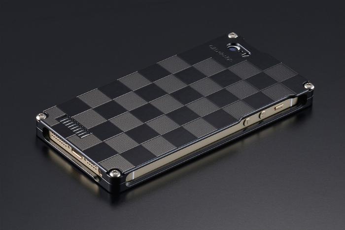 GILD design ギルドデザイン その他グッズ 市松 for iPhone SE/5s/5 カラー:ブラック