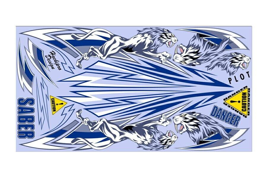 【ポイント5倍開催中!!】PLOT プロト ステッカー・デカール デカール SABER B&W サイズ:L (車両用サイズ)