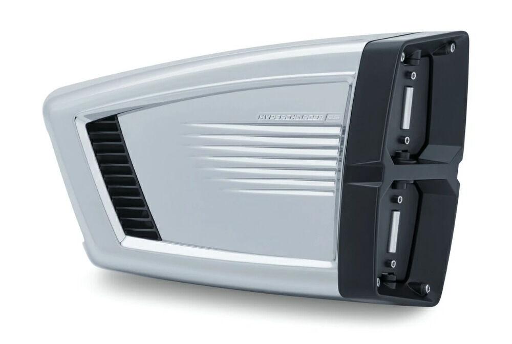 Kuryakyn クリアキン エアクリーナー・エアエレメント ハイパーチャージャー ES エアクリーナー カラー:クローム&ブラック ツーリング(08-16)、ソフテイル(16-17)、FXDLS(16/17)