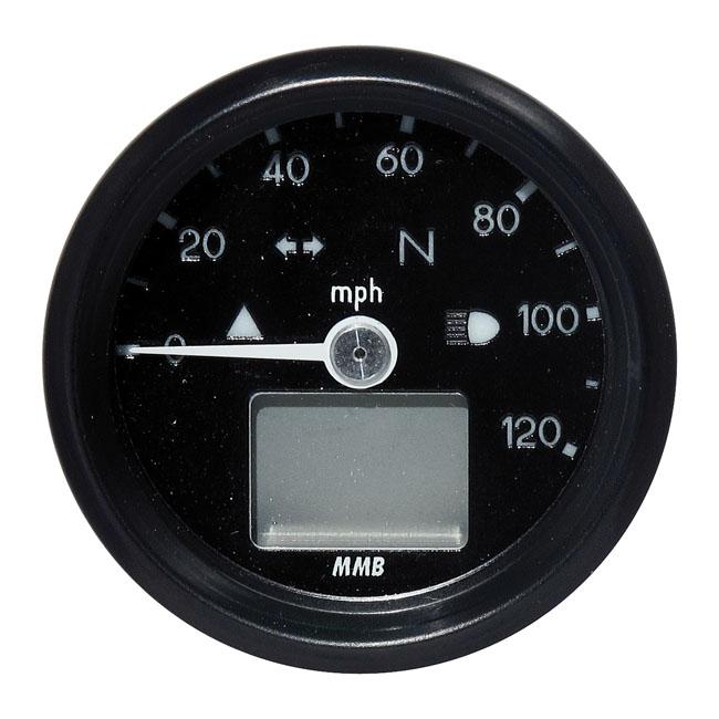MMB エムエムビー スピードメーター ELECTRONIC 48MM SPEEDO BASIC 120 MP/H