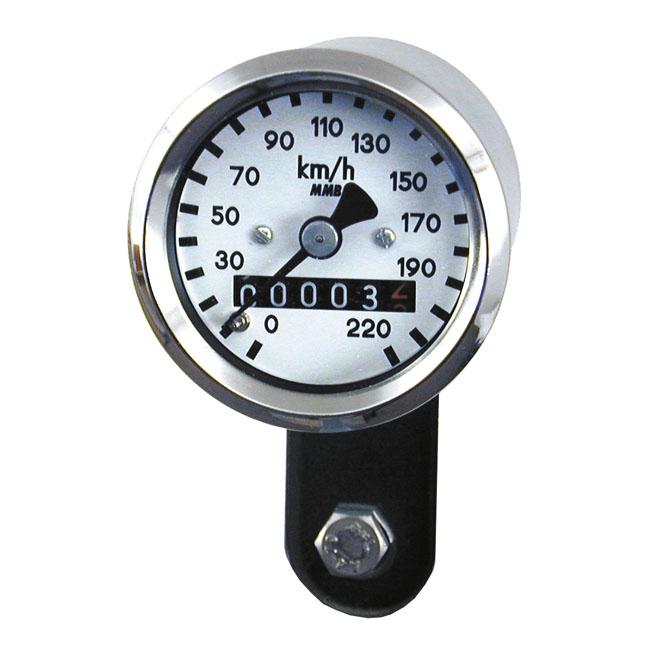 MMB エムエムビー スピードメーター ウルトラミニ スピードメータ - 1:1 MPH【ULTRA MINI SPEEDO - 1:1 MPH】 COLOR:WHITE 67-83 FLFX TRANSMISSION DRIVE
