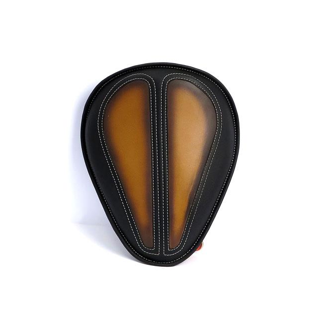 LA ROSA DESIGN ラローサデザイン シート本体 BAD ASS 13インチソロシート【13 INCH BAD ASS SOLO SEAT】 COLOR:BLACK WITH ANTIQUE TAN INLAY 00-17 Softail