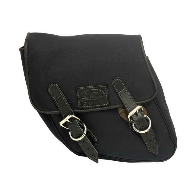 LA ROSA DESIGN ラローサデザイン サドルバッグ・サイドバッグ ELIMINATOR SWINGARM SADDLE BAG COLOR:BLACK CANVAS 04-17 XL