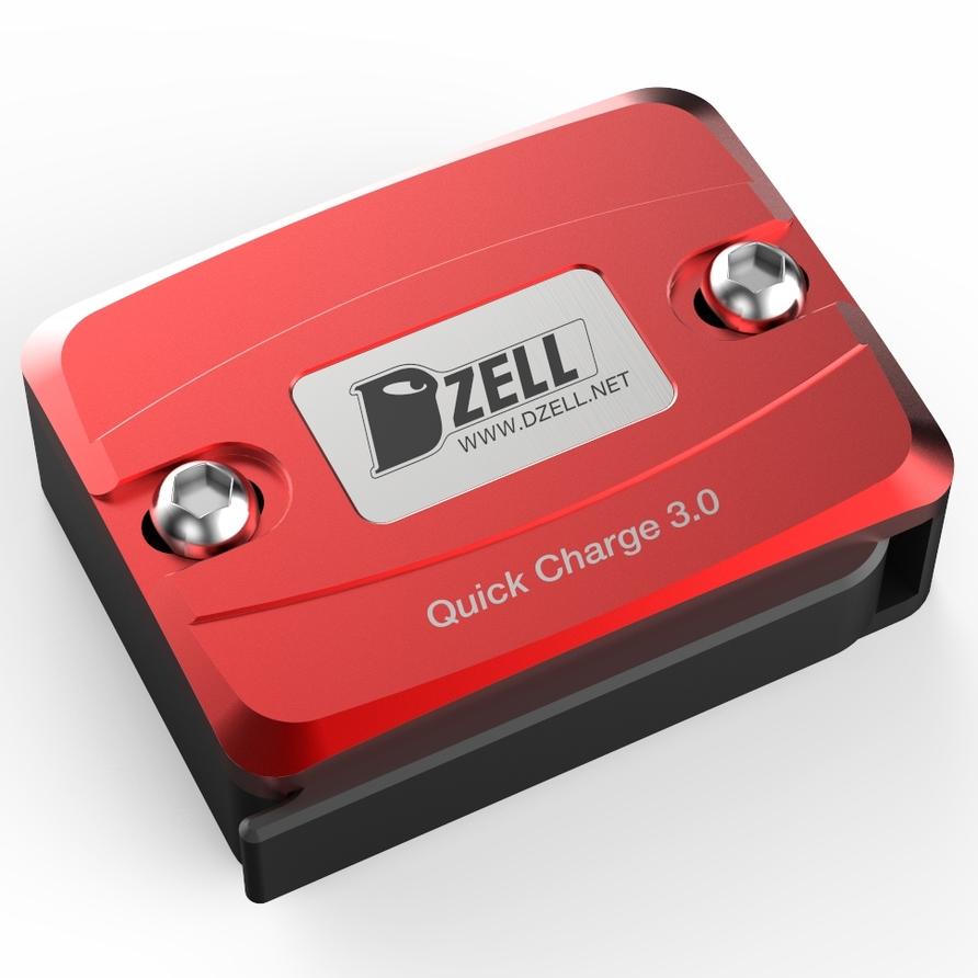 Dzell ディーゼル その他電装パーツ USB ONE ポート カラー:レッド BWS PCX グロム スモールリザーブタンクサイズ ニンジャ250