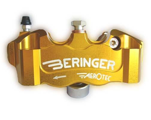 BERINGER ベルリンガー 4Pキャリパー カラー:ゴールド MONSTER1200 [モンスター](09-14) Ninja H2(16-17) R nine T(14-17) S1000RR(15-17) ZX-10R(16-17)