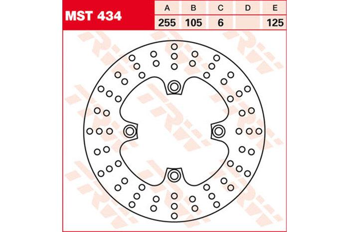 TRW ティーアールダブル ブレーキディスク [MST434]