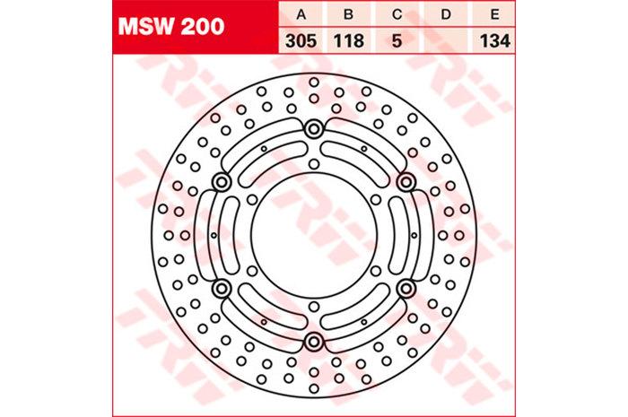 TRW ティーアールダブル ディスクローター BRAKE-DISCS [MSW200]