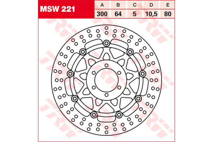 TRW ティーアールダブル ディスクローター BRAKE-DISCS [MSW221]