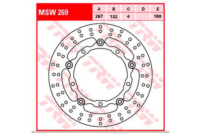 TRW ティーアールダブル ディスクローター BRAKE-DISCS [MSW269]