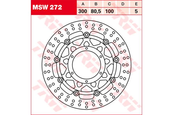 TRW ティーアールダブル ディスクローター BRAKE-DISCS [MSW272]
