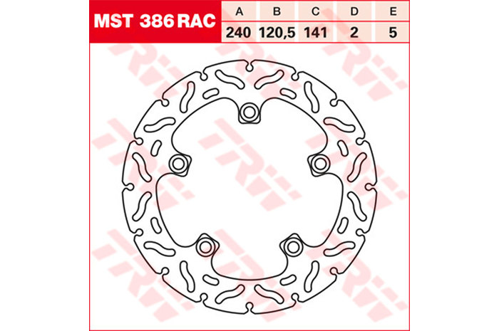 TRW ティーアールダブル ディスクローター BRAKE-DISCS RACING [MST386RAC2]