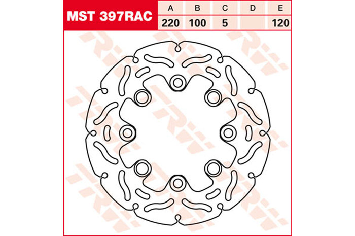 TRW ティーアールダブル BRAKE-DISCS RACING [MST397RAC2] ER-6 650 F [EX650A] 06-08 ER-6 650 F [EX650C] 09-11 ER-6 650 N [ER650A] 06-08 ER-6 650 N [ER650C] 09-11 ER-6 650 N [ER650E] KLE 650 Versys [LE650A] KLE 650 Versys [LE650C]