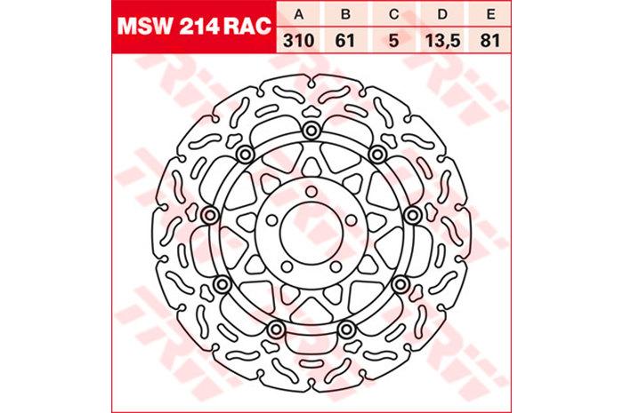 TRW ティーアールダブル BRAKE-DISCS RACING [MSW214RAC2]