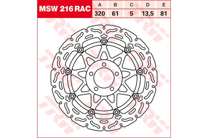 TRW ティーアールダブル BRAKE-DISCS RACING [MSW216RAC2]