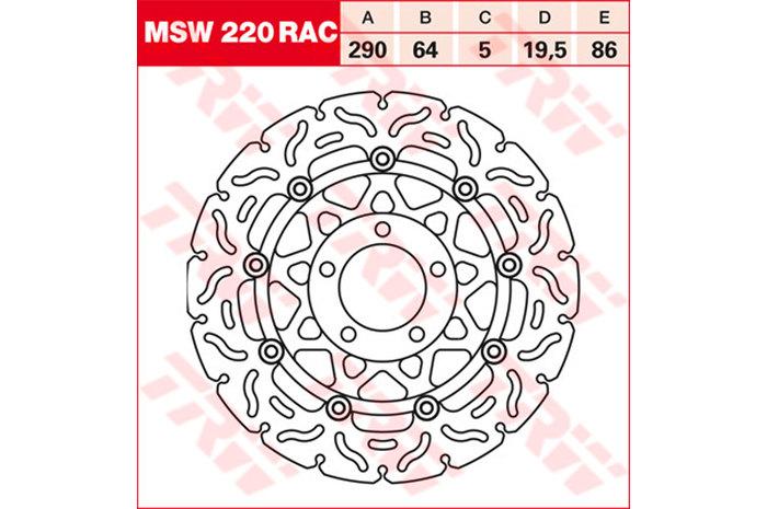 TRW ティーアールダブル ディスクローター BRAKE-DISCS RACING [MSW220RAC2]