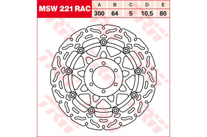 TRW ティーアールダブル BRAKE-DISCS RACING [MSW221RAC2]