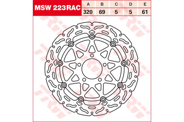 TRW ティーアールダブル BRAKE-DISCS RACING [MSW223RAC2] GSX 1300 R Hayabusa [WVA1] GSX 1400 [WVBN] GSX-R 1000 [WVBL] GSX-R 600 [AD] GSX-R 600 [WVBG] GSX-R 750 [GR7DB] GSX-R 750 [WVBD] TL 1000 R [AM] TL 1000 S [AG] 97-01