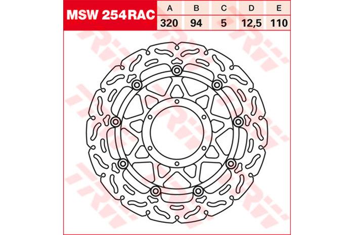 TRW ティーアールダブル BRAKE-DISCS RACING [MSW254RAC2] CBR 1000 RR Fireblade [SC57] 06-07 VTR 1000 SP1 [SC45] VTR 1000 SP2 [SC45]
