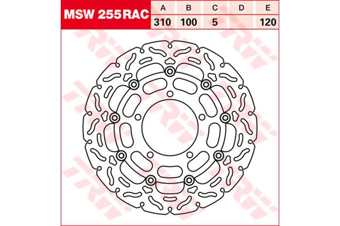 TRW ティーアールダブル BRAKE-DISCS RACING [MSW255RAC2] GSX-R 1000 [WVB6] GSX-R 1000 [WVCL] GSX-R 600 [WVCE] GSX-R 750 [WVCF] VZR - Intruder M1800R [WVCA] VZR - Intruder M1800R2 [WVCA] 08-09