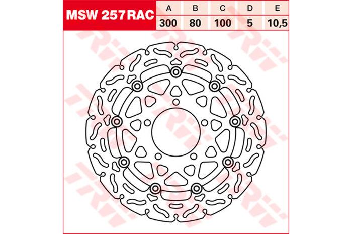 TRW ティーアールダブル BRAKE-DISCS RACING [MSW257RAC2]