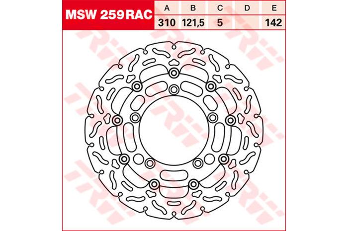 TRW ティーアールダブル BRAKE-DISCS RACING [MSW259RAC2]