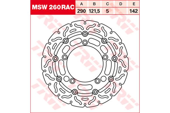 TRW ティーアールダブル BRAKE-DISCS RACING [MSW260RAC2] GSF 650 A Bandit [WVB5] 05-06 GSF 650 SA Bandit [WVB5] 05-06 SFV 650 A Gladius [WVCX] SFV 650 Gladius [WVCX] SV 650 A [WVBY] SV 650 SA [WVBY]