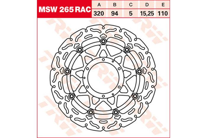 TRW ティーアールダブル BRAKE-DISCS RACING [MSW265RAC2] CBR 1000 RA Fireblade [SC59] CBR 1000 RR Fireblade [SC59]