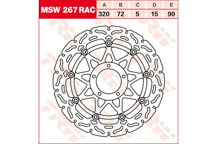 TRW ティーアールダブル BRAKE-DISCS RACING [MSW267RAC2]