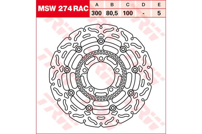TRW ティーアールダブル BRAKE-DISCS RACING [MSW274RAC2]